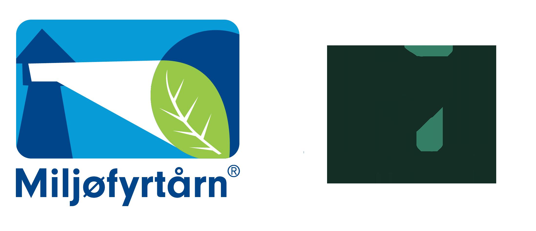 Miljøfyrtårn - logo med gj
