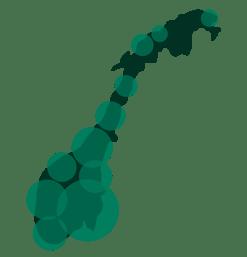 Norgeskart - Grønn Jobb Kunder